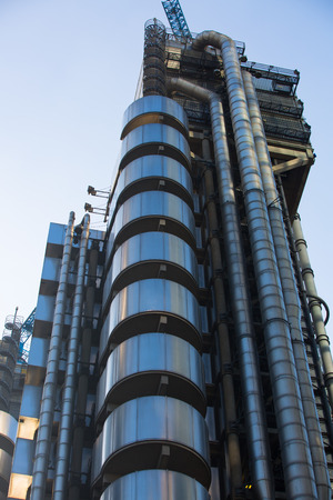 London, UK - March 15, 2017: London, UK - March 15, 2017:  Lloyds bank building against of blue sky