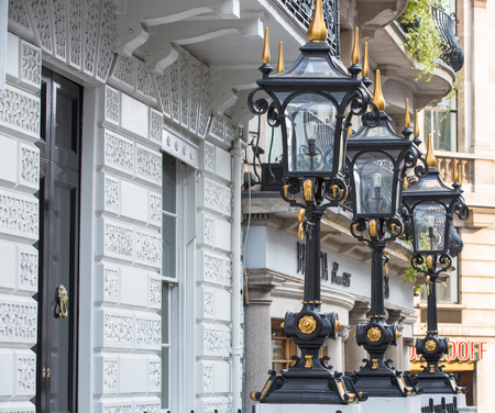 upscale: London, UK - October 4, 2016: Luxury apartment building in the centre of London, Pall Mall street Editorial