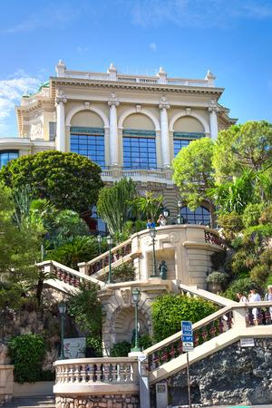 Monaco, Monte Carlo - September 17, 2016: Buddha Bar, luxury bar locates on the back of the Grand Casing Monte Carlo Editorial