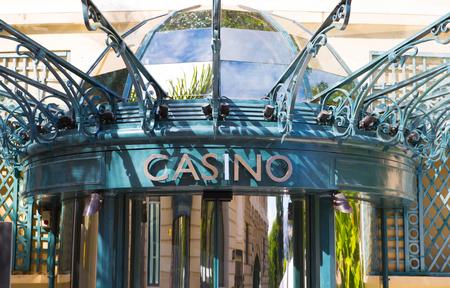 Monaco, Monte Carlo - September 17, 2016: The Grand casino Monte Carlo entry sing, gambling and entertainment complex in Cote de Azul