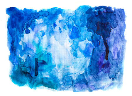 diffuse: Abstract watercolour hand painted background. Watercolour stains, wash and splashes with space for text. Stock Photo