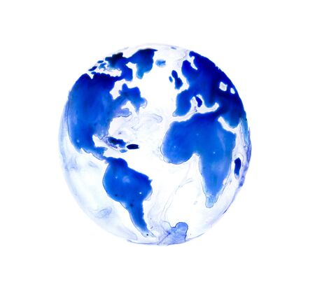 Abstract Globe, Watercolour textured collection.