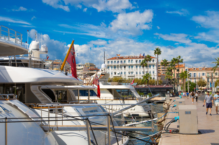 Harbour and old city at the French Riviera, home for the Cannes Film Festival Editorial