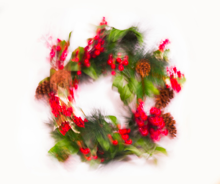 Blurred image of Christmas decorations