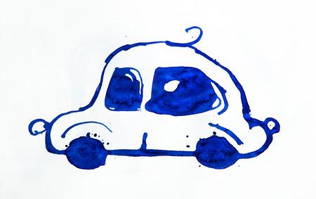 Automóvil abstracto hecho de acuarela Foto de archivo