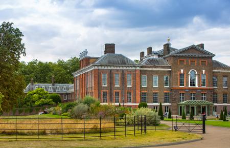 London, UK - September 8, 2016: Kensington palace in the Hyde park Editorial