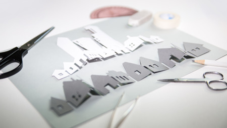 Paper cut design elements, creating sense in progress. Creativity, education, hobby, innovation and inspiration concept.