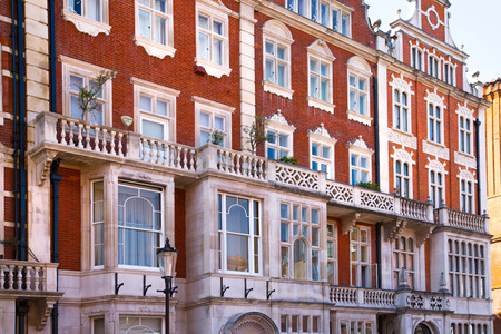 London, UK - August 25, 2017: Residential aria of Kensington and Chelsea. Cadogan gate with row of periodic buildings. Luxury property in the centre of London.