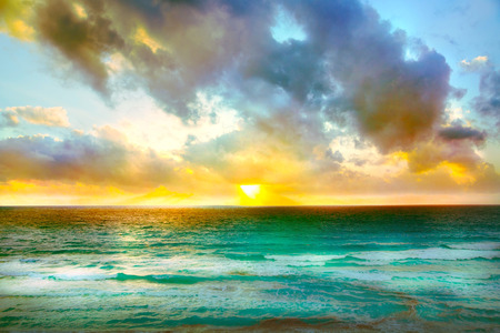 Beautiful sunset in Cancun, Mexico 写真素材