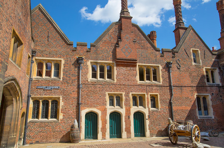 London, UK - July 29, 2019: Tudors kitchen office of the the Hampton court, belonged to Henry VIII. Locates in West London.