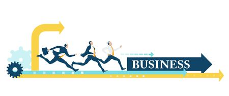 Business people running and competing for the better deal, professional position, career, individual growth. Successful business people, Rivals Ilustração