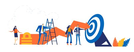 Successful business team get the target, growing business, successful start up, support and business developing idea.
