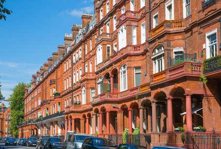 London, UK - 25 August, 2020: Beautiful English periodic houses, residential buildings of Belgravia.