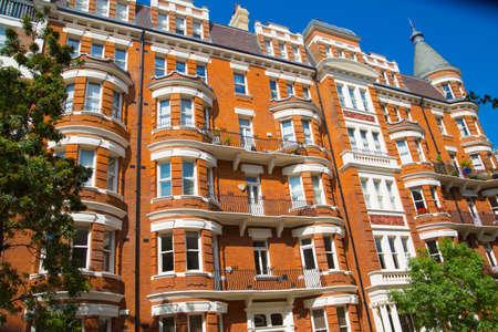 London, UK - 25 August, 2020: Beautiful English periodic houses, residential buildings of Belgravia. Editorial