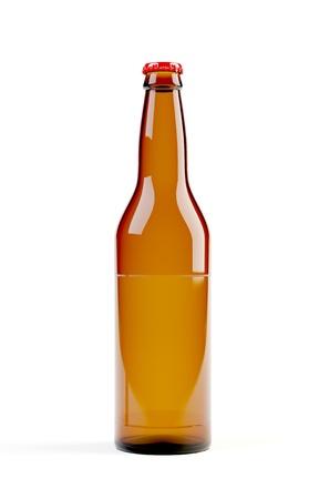 3d model of beer bottle on white background Stock Photo - 8463723