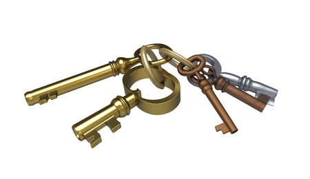 Keys different in the form on a white background Stock Photo - 8658642