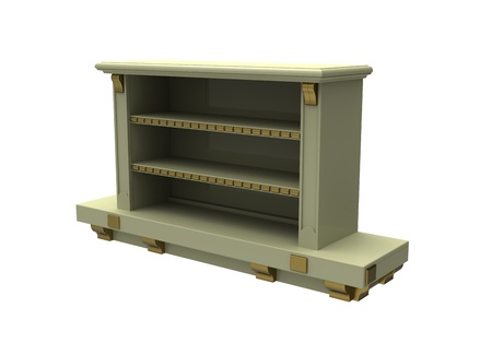 regiments: Curbstone under the TV on a white background