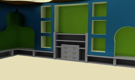 Modern interior with furniture photo