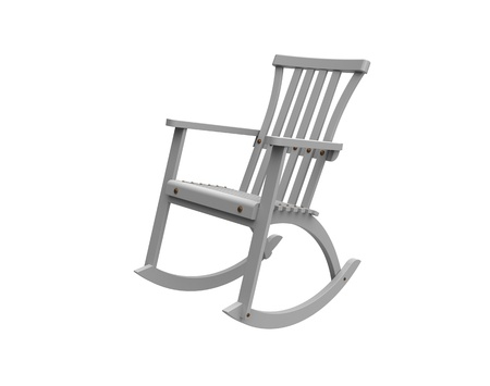 rocking chair: Rocking-chair with a back on a white background
