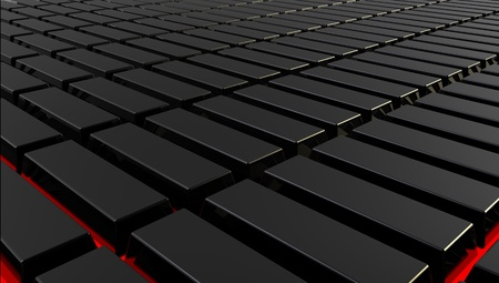 Black rectangles with red illumination on a background Stock Photo - 8779253