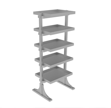Metal shelf on a white background Stock Photo - 8927138
