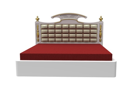 3d render of  modern bed on a white background Stock Photo - 8927184