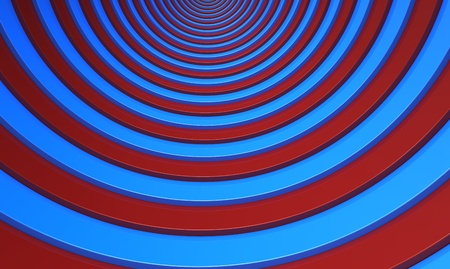 Red and blue strips of the round form Stock Photo - 8927185