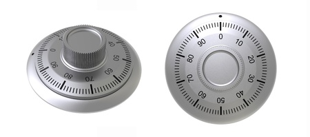 coded: 3d render of  coded lock on a white background