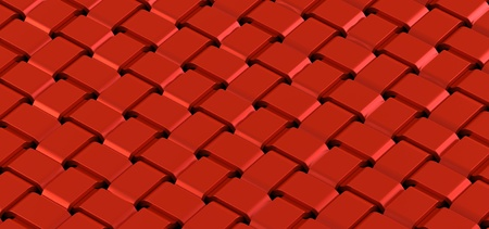 weaved: The red weaved grid from strips Stock Photo