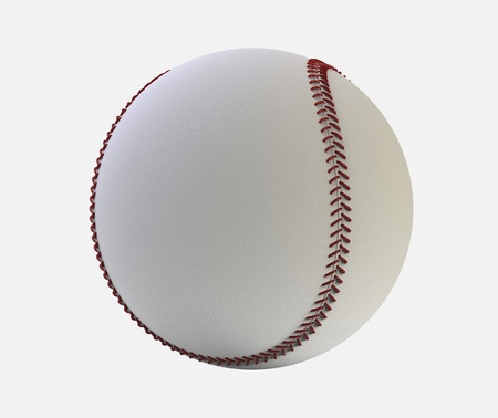3d render of  baseball ball on a white background photo
