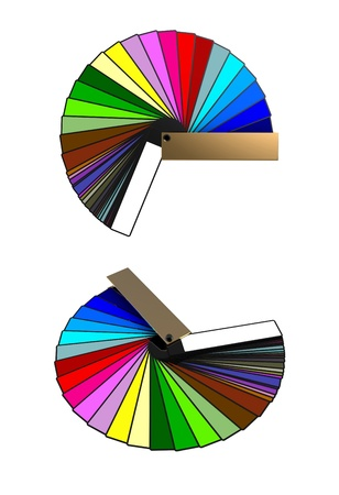 3d render of  colour apportion of different shades on a white background Stock Photo - 9237957