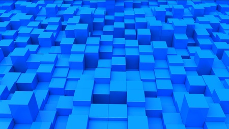 Abstract urban background of 3d blocks Stock Photo - 9507142
