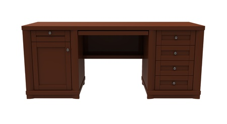 3d render of  desk on a white background