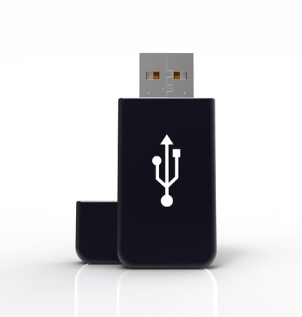 3d render of usb flash drive