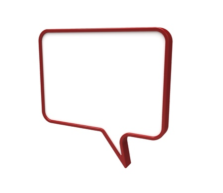 3d render of  speech bubbles Stock Photo - 9576294