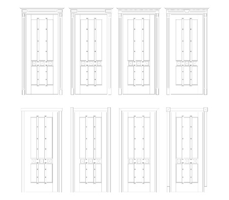 The drawing of doors on a white background Stock Photo - 9657123