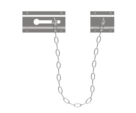 Door chain on a white background Stock Photo - 9731835