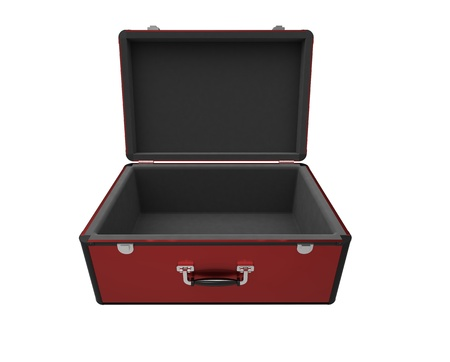 Open suitcase on a white background Stock Photo - 9824234