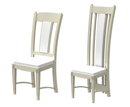 Two beige chairs on a white background Stock Photo - 9824240