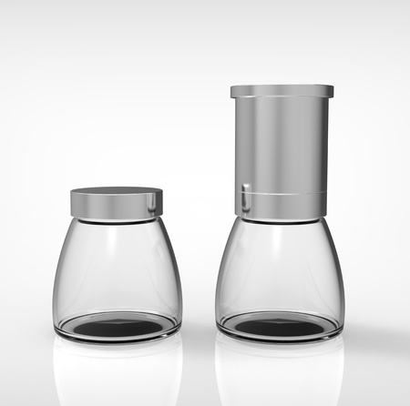 3d render of shaker for spices on a grey background photo
