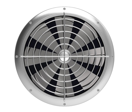 axial: The fan metal on a white background