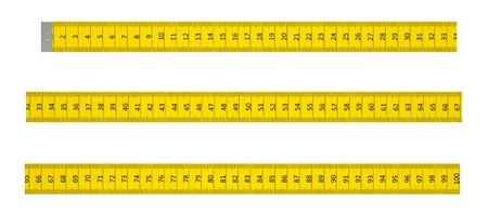 cintas metricas: Gobernante con un marcador a un metro sobre un fondo blanco