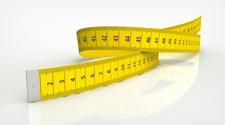 tape measure: Measuring tape of the tailor isolated on white background