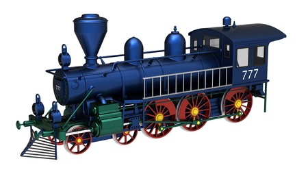 3d render of  train steam on a white background photo