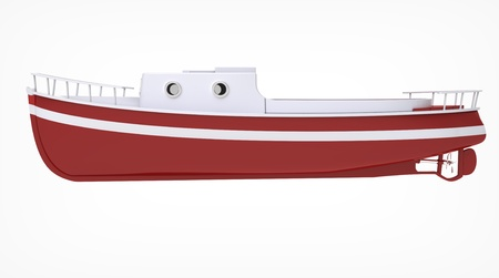 boat motor: 3d render of  boat motor on a white background Stock Photo