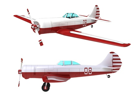 biplane: Model of the sports plane on a white background