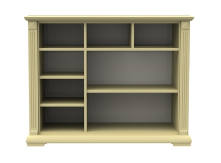 Chest of drawers with shelves on a white background photo
