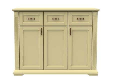 arredamento classico: Cassettone in legno su uno sfondo bianco