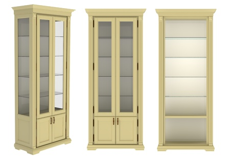 roomy: The high  cupboard on a white background