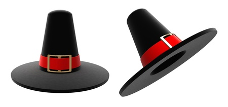 Stately pilgrim hat isolated on white